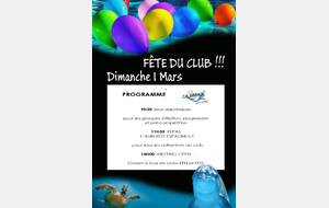 Fête du club le 01/03/2019 - Save the date !